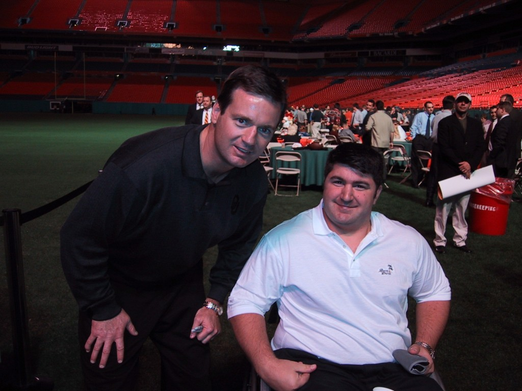 Me and Oklahoma Head Coach Bob Stoops - Miami Gardens, Florida - Dec. 6, 2000